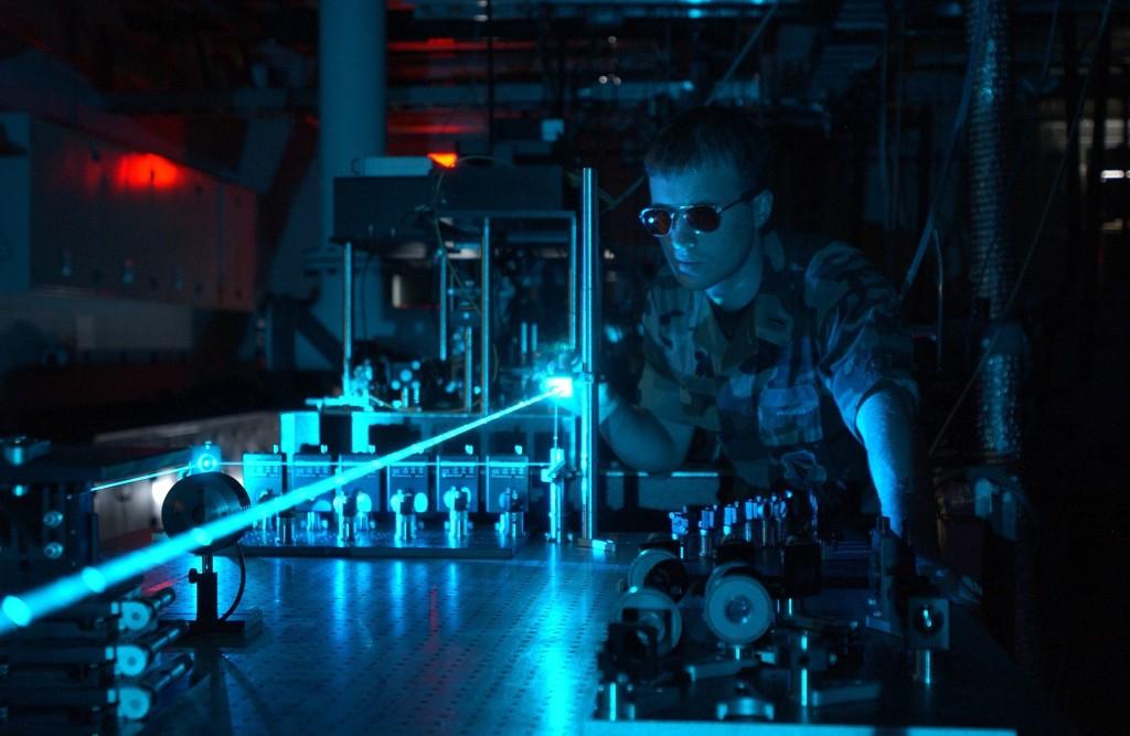 Expérience avec un laser